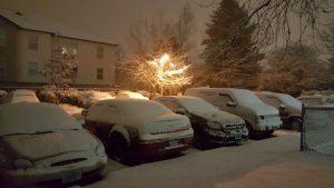 Tuesday night snow